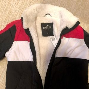 new with tags red navy blue and white jacket